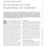 thumbnail of Artikel De noodzaak van meer begeleiding voor studenten_pag19-21